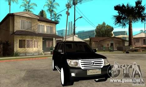 Lexus LX 570 2010 pour GTA San Andreas vue arrière