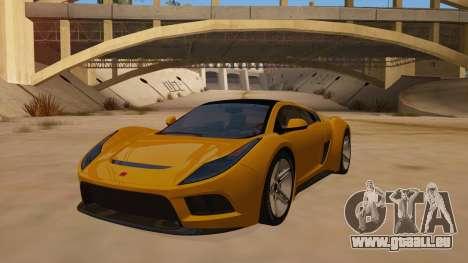 Saleen S5S Raptor 2010 pour GTA San Andreas vue arrière