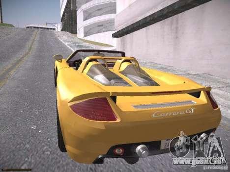 Porsche Carrera GT pour GTA San Andreas sur la vue arrière gauche