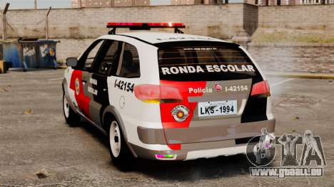 Fiat Palio Weekend Trekking 2013 PMESP ELS pour GTA 4 Vue arrière de la gauche
