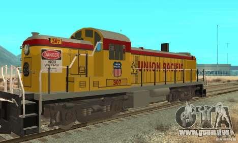 RS3 Diesel Locomotive Union Pacific pour GTA San Andreas sur la vue arrière gauche