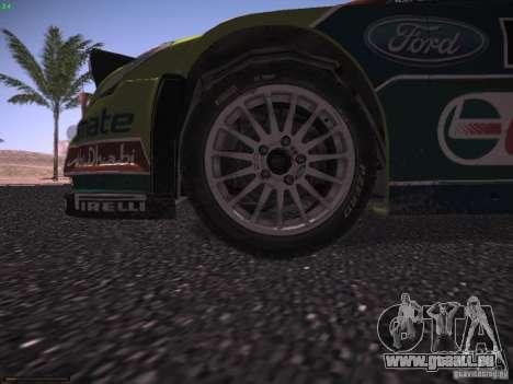 Ford Focus RS WRC 2010 pour GTA San Andreas moteur