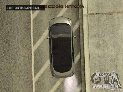 Renault Avantime pour GTA San Andreas vue intérieure