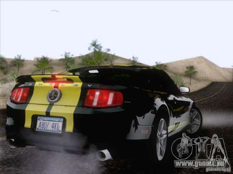 Ford Shelby Mustang GT500 2010 für GTA San Andreas obere Ansicht