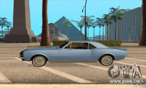 Chevrolet Camaro SS 1967 pour GTA San Andreas sur la vue arrière gauche