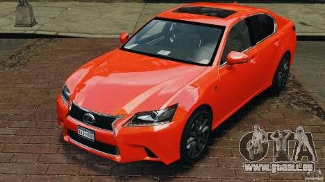 Lexus GS350 2013 v1.0 pour GTA 4