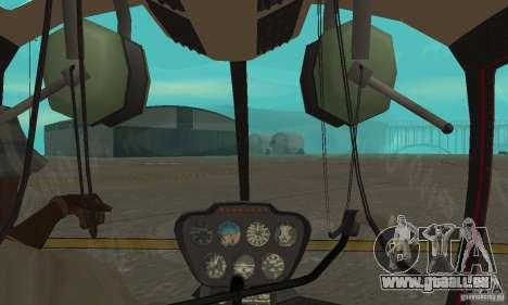 Robinson R44 Raven II NC 1.0 1 de la peau pour GTA San Andreas vue arrière