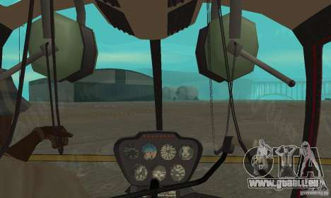 Robinson R44 Raven II NC 1.0 Haut 1 für GTA San Andreas Rückansicht