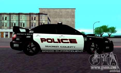 Subaru Impreza WRX STI Police Speed Enforcement pour GTA San Andreas vue de droite