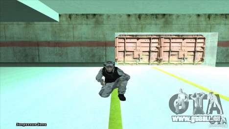 Army Soldier v2 pour GTA San Andreas cinquième écran
