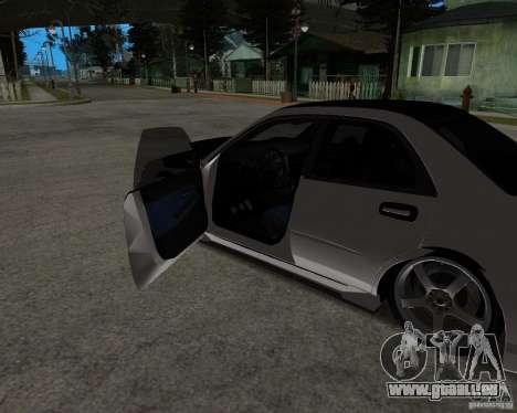 Subaru Impreza (exclusive) pour GTA San Andreas sur la vue arrière gauche
