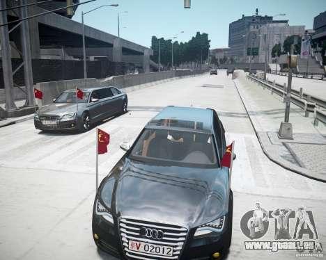 Audi A8 Limo für GTA 4 Unteransicht