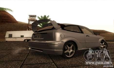 Ford Focus SVT TUNEABLE pour GTA San Andreas vue de droite