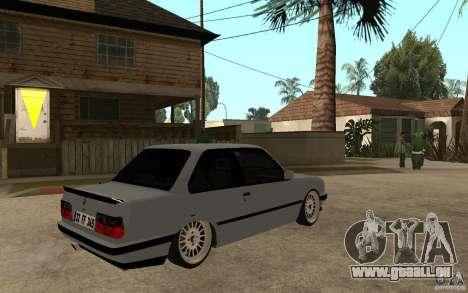 BMW E30 CebeL Tuning pour GTA San Andreas vue de droite