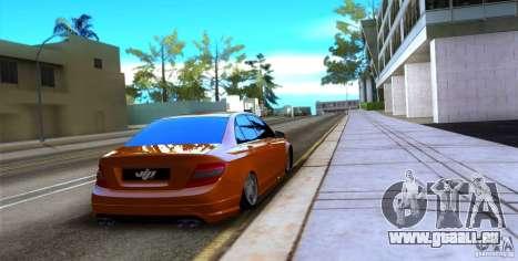 Mercedes-Benz C63 für GTA San Andreas rechten Ansicht
