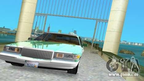 Lincoln Town Car 1997 für GTA Vice City Rückansicht