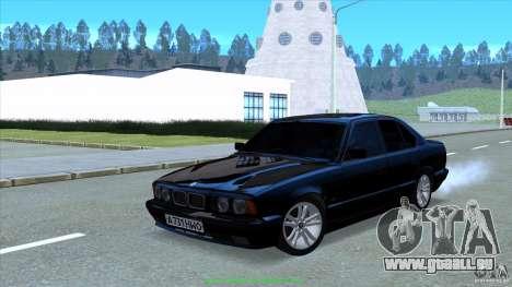BMW E34 V1.0 pour GTA San Andreas vue arrière