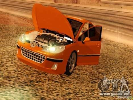 Peugeot 407 für GTA San Andreas Rückansicht