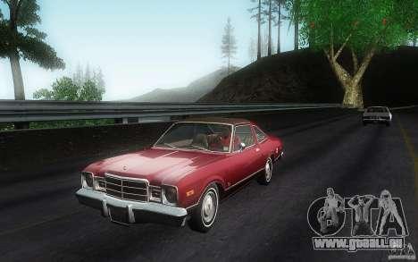 Plymouth Volare Coupe 1977 pour GTA San Andreas laissé vue