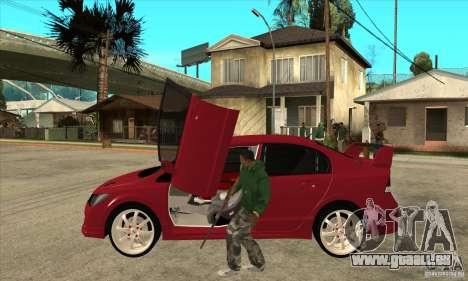 Honda Civic Mugen RR pour GTA San Andreas laissé vue