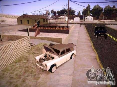 GAZ m 20 premiers 1956 pour GTA San Andreas vue de dessus