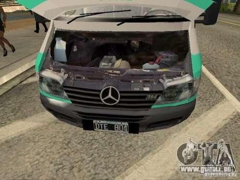 Mercedes Benz Sprinter SAME pour GTA San Andreas vue de droite