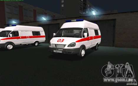 Ambulance Gazelle 22172 pour GTA San Andreas