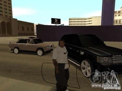 Bouclier armure de Call of Duty Modern Warfare 2 pour GTA San Andreas troisième écran