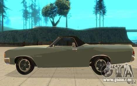Chevrolet El Camino 1972 pour GTA San Andreas laissé vue