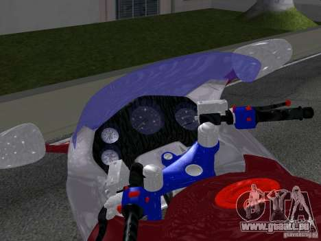Honda CBR1100XX pour GTA San Andreas vue de droite