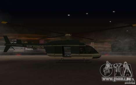 GTA IV Maverick pour GTA San Andreas sur la vue arrière gauche
