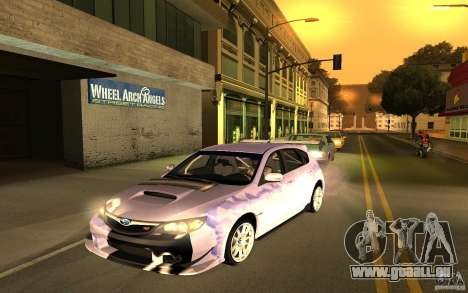 Subaru Impreza WRX STI 2008 Tunable für GTA San Andreas Rückansicht