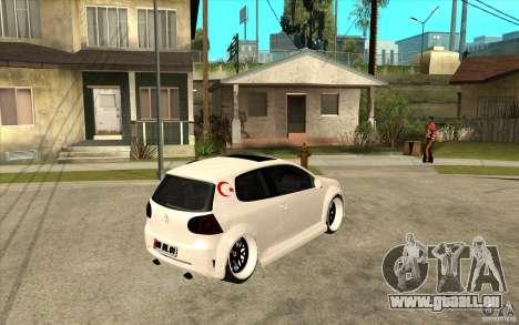 VW Golf 5 GTI Tuning für GTA San Andreas rechten Ansicht