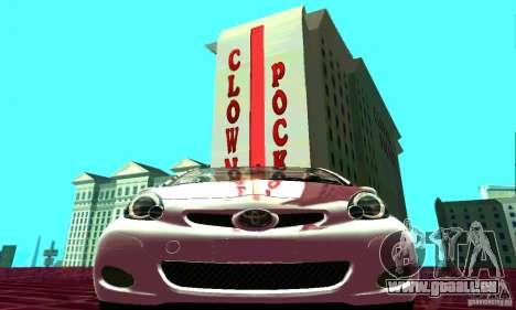 Toyota Aygo V1.0 pour GTA San Andreas vue arrière
