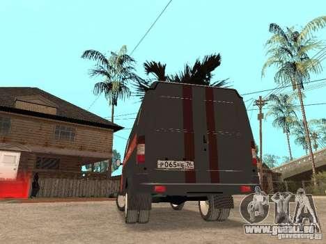 2705 Gazelle Gas service für GTA San Andreas rechten Ansicht