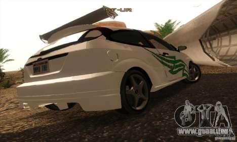 Ford Focus SVT TUNEABLE pour GTA San Andreas vue de côté