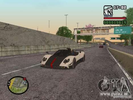 Pagani Zonda Cinque Roadster V2 für GTA San Andreas