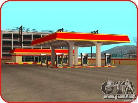 Nouvelle station d'essence Shell pour GTA San Andreas troisième écran