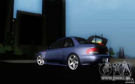 Subaru Impreza 22B für GTA San Andreas Innenansicht