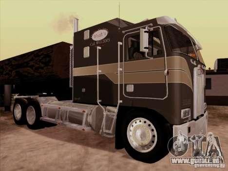 Kenworth K100 Aerodyne-trailer für GTA San Andreas Rückansicht