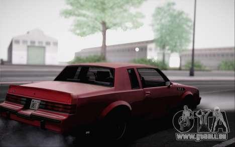 Buick GNX 1987 für GTA San Andreas rechten Ansicht