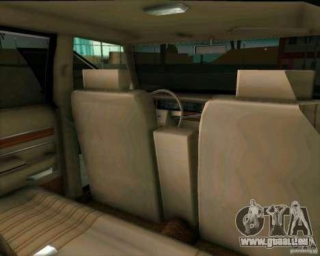 Ford Crown Victora LTD 1985 pour une vue GTA Vice City de l'intérieur