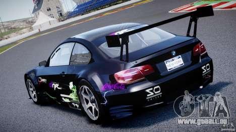 BMW M3 GT2 Drift Style pour GTA 4 vue de dessus