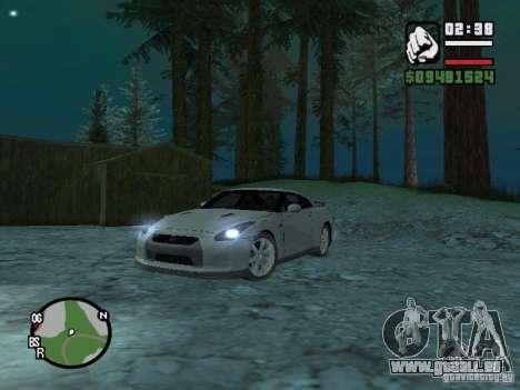Nissan Skyline GTR für GTA San Andreas zurück linke Ansicht