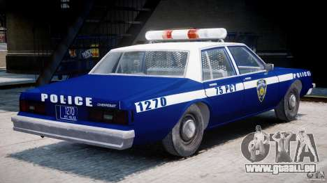 Chevrolet Impala Police 1983 [Final] für GTA 4 rechte Ansicht