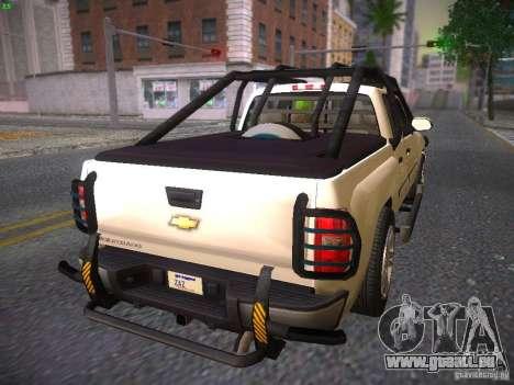 Chevrolet Silverado pour GTA San Andreas laissé vue