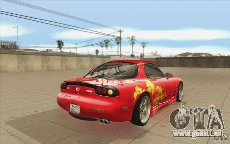 Mazda RX-7 - FnF2 pour GTA San Andreas vue de côté