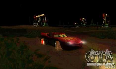 MCQUEEN from Cars für GTA San Andreas Unteransicht