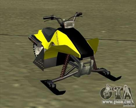 Snowmobile pour GTA San Andreas sur la vue arrière gauche