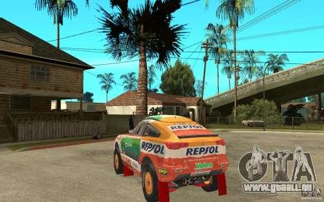 Mitsubishi Racing Lancer pour GTA San Andreas sur la vue arrière gauche